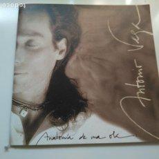 Catálogos de Música: ANTONIO VEGA - ENCARTE PROMOCIONAL LETRAS ANATOMIA DE UNA OLA.. Lote 236256200