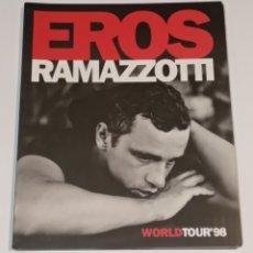 Catálogos de Música: EROS RAMAZZOTTI WORLD TOUR 1998. Lote 238113440
