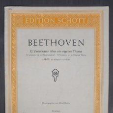 Catálogos de Música: BEETHOVEN, 32 VARIAION ÜBER EIN EIGENES THEMA-HERAUSGEGEBEN VON ALFRED HOEHN. PIANO. Lote 240522925