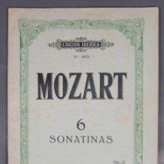 Catálogos de Música: MOZART 6 SONATAS-EDICION IBERICA NUM.183-ED.BOILEAU. Lote 240525675