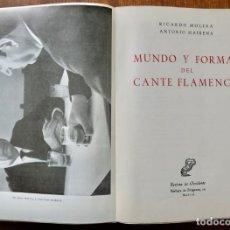 Catálogos de Música: MUNDO Y FORMAS DEL CANTE FLAMENCO - RICARDO MOLINA ANTONIO MAIRENA 1963. Lote 242484250