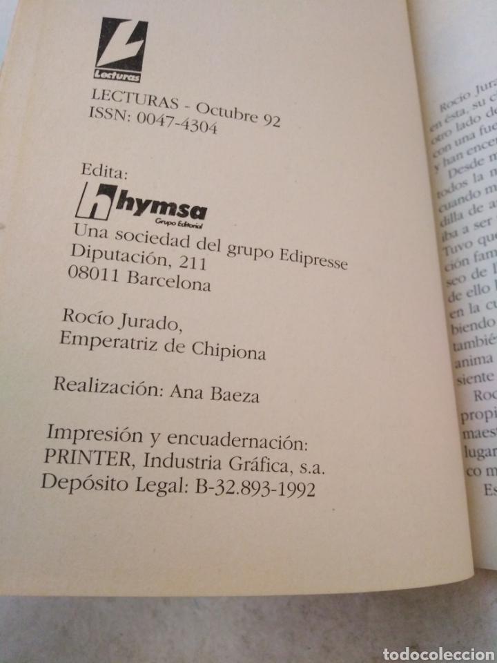 Catálogos de Música: Rocío jurado, emperatriz de chipiona ( lecturas ) - Foto 4 - 244770465