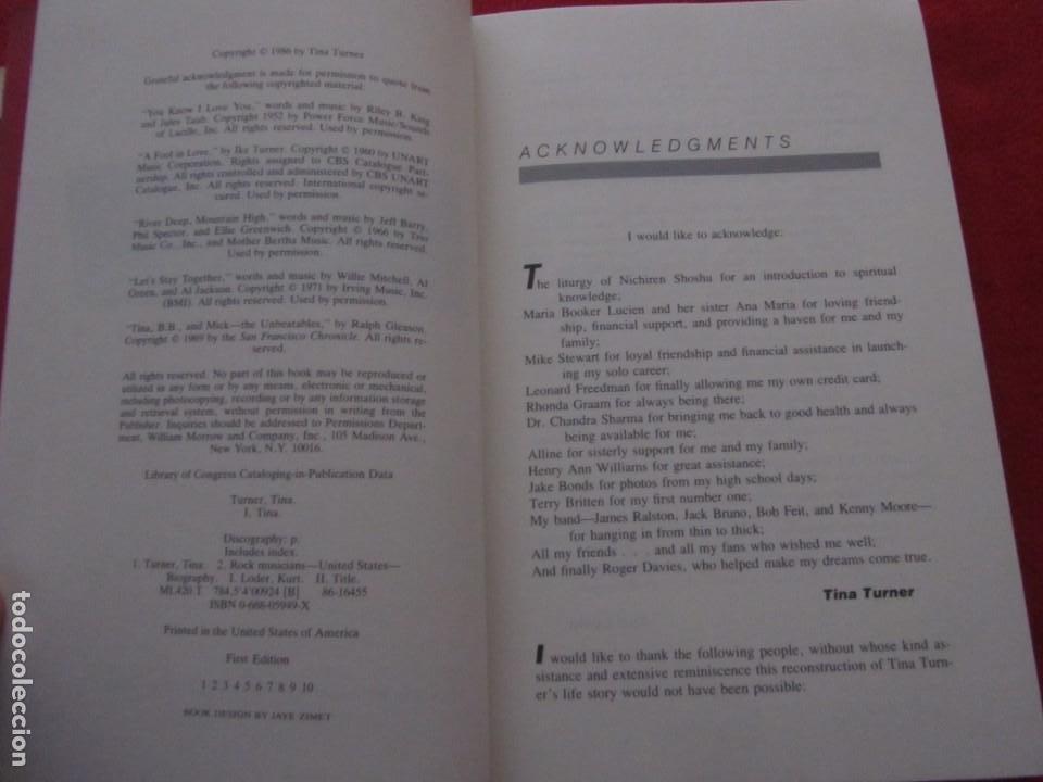 Catálogos de Música: TINA TURNER LIBRO I TINA MY LIFE STORY, TINA TURNER WITH KURT LODER CON POSTER PROMOCIONAL - Foto 4 - 244777060