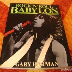 Catálogos de Música: ROCK´N´ROLL BABYLON GARY HERMAN ROLLING STONES SEX PISTOLS BOWIE MARLEY BLONDIE HENDRIX RAY CHARLES. Lote 245592600