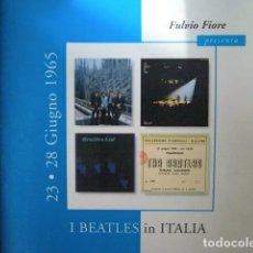 Catálogos de Música: LOS BEATLES EN ITALIA GIRA EUROPEA JUNIO 1965 FOTOS Y RECUERDOS BEATLEMANIA PURA. Lote 246073340