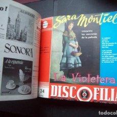 Catálogos de Música: TOMO ENCUADERNADO REVISTAS DISCOFILIA. NOTICIARIO MUSICAL DISCO ESPAÑOL. DEL NUMERO 21 AL 30. 1958. Lote 247226320