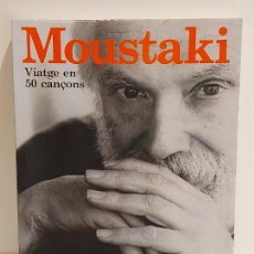 Catálogos de Música: MOUSTAKI / VIATGE EN 50 CANÇONS / CANÇONS I DISCOGRAFIA / PELAI RIBAS / ED: LA BUSCA / NUEVO. Lote 248074715