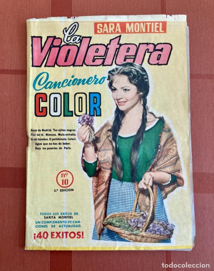 LA VIOLETERA, SARA MONTIEL - CANCIONERO COLOR Nº 10 - 2ª EDICIÓN, 1958 (Música - Catálogos de Música, Libros y Cancioneros)