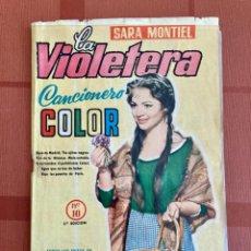 Catálogos de Música: LA VIOLETERA, SARA MONTIEL - CANCIONERO COLOR Nº 10 - 2ª EDICIÓN, 1958. Lote 251138100