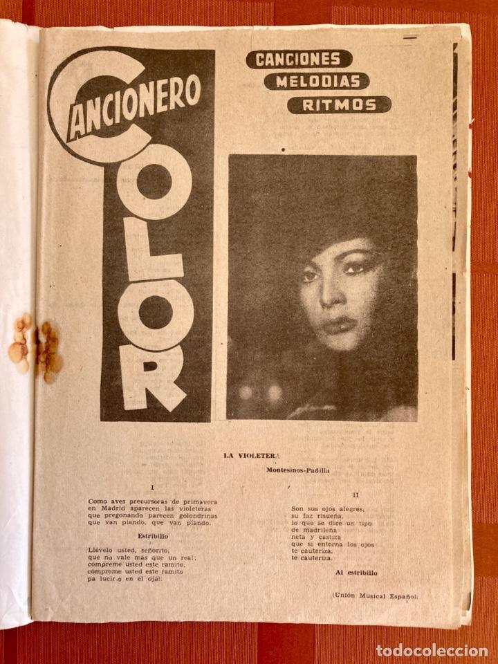 Catálogos de Música: La Violetera, Sara Montiel - Cancionero Color Nº 10 - 2ª Edición, 1958 - Foto 3 - 251138100