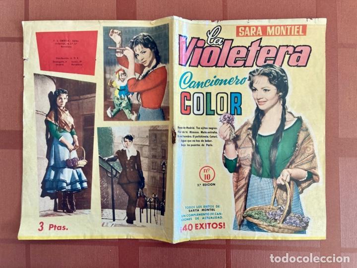 Catálogos de Música: La Violetera, Sara Montiel - Cancionero Color Nº 10 - 2ª Edición, 1958 - Foto 5 - 251138100