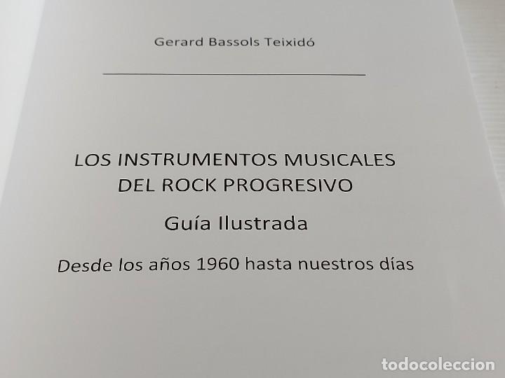 Catálogos de Música: LOS INSTRUMENTOS MUSICALES DEL ROCK PROGRESIVO / GERARD BASSOLS TEIXIDÓ-2018 / NUEVO - Foto 2 - 251218190