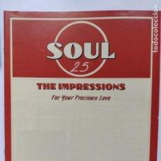 Catálogos de Música: FASCICULO ALTAYA SOUL 25 THE IMPRESSIONS - FOR YOUR PRECIOUS LOVE. Lote 251815735