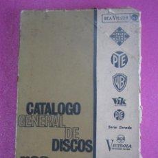 Catálogos de Música: CATALOGO GENERAL DE DISCOS RCA VINILOS ANTIGUOS 1964. Lote 252226320