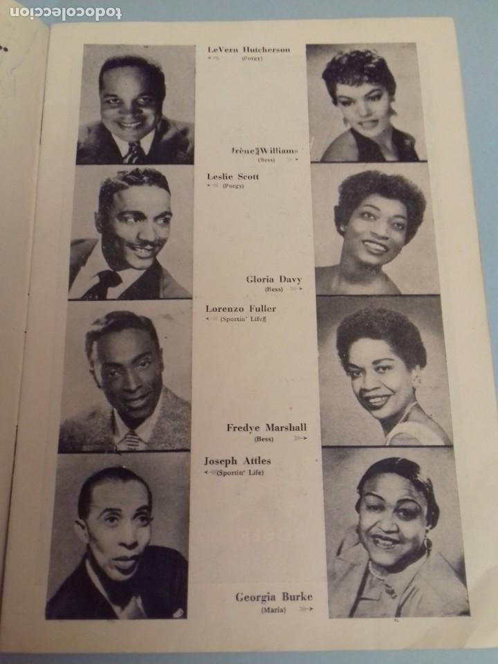 Catálogos de Música: Programa musical Opera PORGY and BESS de George Gershwin, Teatro del Liceo Barcelona, Febrero 1955 - Foto 3 - 252377710