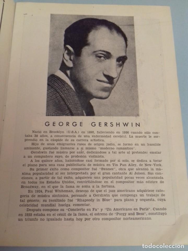 Catálogos de Música: Programa musical Opera PORGY and BESS de George Gershwin, Teatro del Liceo Barcelona, Febrero 1955 - Foto 6 - 252377710