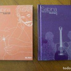 Catálogos de Música: JOAQUIN SABINA LIBRO + CD - Nº 7 RULETA RUSA - EL PAIS 2007 + LIBRO Nº 12 MANDRÁGORA. Lote 252419990