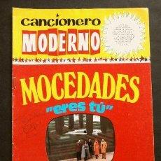 Catálogos de Música: MOCEDADES (1973) CANCIONERO MODERNO - ED. ESTE - FESTIVAL EUROVISION 73 - ERES TU. Lote 252664210