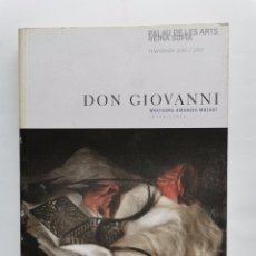 Catálogos de Música: DON GIOVANNI MOZART PALAU DE LES ARTS REINA SOFÍA. Lote 254500860