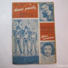 Catálogos de Música: TRIO CALAVERAS-IRMA VILA-MARGA LLERGO-CANCIONES MUSICA POPULAR-CANCIONERO-VER FOTOS-(K-2292). Lote 254804270