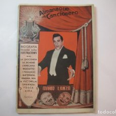 Catálogos de Música: MARIO LANZA-EDITORIAL ALAS-ALMANAQUE CANCIONERO-VER FOTOS-(K-2296). Lote 254805175