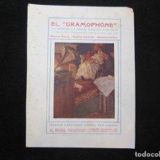 Catálogos de Música: LA VOZ DE SU AMO-EL GRAMOPHONE-PUBLICIDAD ANTIGUA-VER FOTOS-(K-2312). Lote 254812775