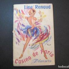 Catálogos de Música: LINE RENAUD-CASINO DE PARIS-CUPLETISTAS CABARET-CATALOGO PUBLICIDAD-VER FOTOS-(K-2323). Lote 254816960