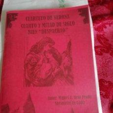 Catálogos de Música: CARNAVAL DE CÁDIZ LIBRETO CUARTETO DE VERONA CUARTO Y MITAD DE SIGLO BIEN DESPACHAO. Lote 255339425