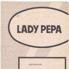 Catálogos de Música: CANCIONERO LADY PEPA DE LOS PEKENIKES. Lote 255672825