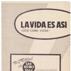 Catálogos de Música: CANCIONERO LA VIDA ES ASÍ (COSI COME VIENE) DE LOS SURFS. Lote 255672955