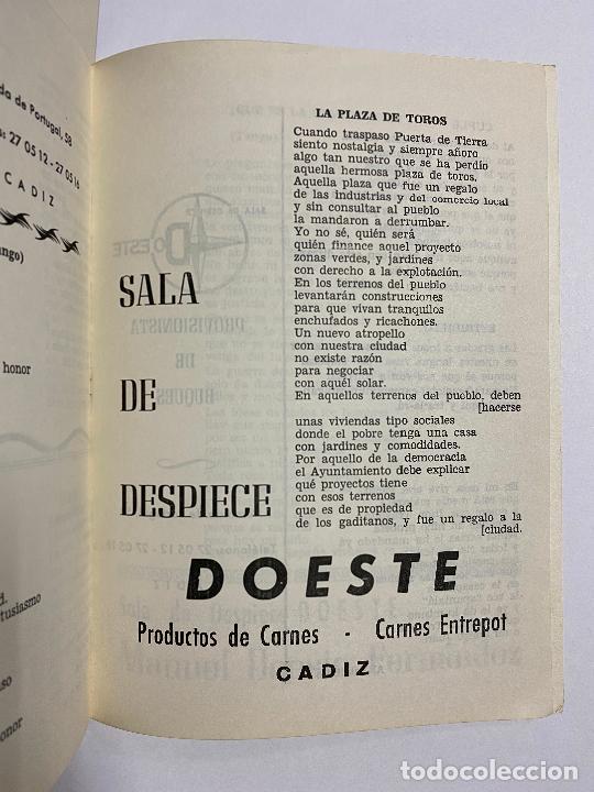 Catálogos de Música: LIBRETO FOLLETO DE CARNAVAL. AÑO 1979. CORO, FANTASÍA RUSA. CADIZ. - Foto 2 - 257308600