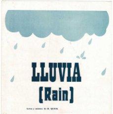 Catálogos de Música: CANCIONERO LLUVIA (RAIN) POR BILL QUICK CON CIFRADO PARA GUITARRA. Lote 257360220