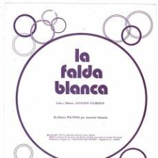 Catálogos de Música: CANCIONERO LA FALDA BLANCA POR ASUNCIÓN SALMERÓN CON CIFRADO PARA GUITARRA. Lote 257360280