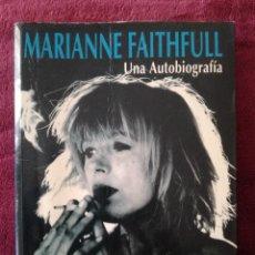 Cataloghi di Musica: MARIANNE FAITHFULL - UNA AUTOBIOGRAFIA - CELESTE. Lote 257970585