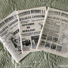 Catálogos de Música: 3 CATALOGOS COCODRILO RECORDS S.L. DISCOS DE COLECCION,. Lote 259925505