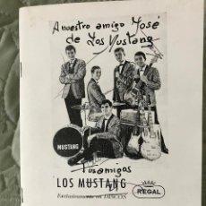 Catálogos de Música: CATALOGO CENTRO MUSICAL IRUNES. IRUN, 1 DE DICIEMBREDE 1996, PORTADA LOS MUSTANG DEDICADO. Lote 259927385