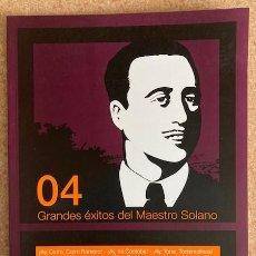 Cataloghi di Musica: GRANDES ÉXITOS DEL MAESTRO SOLANO - VOL.4. Lote 260720405