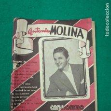 Catálogos de Música: CANCIONERO ANTONIO MOLINA. EDITORIAL ALAS CANCIONERO Nº 156.. Lote 260828465