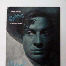 Catálogos de Música: ANTONIO BALLET ESPAÑOL GRAN TEATRO OPERA DE BUENOS AIRES ANTIGUO. Lote 261296595