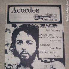 Catálogos de Música: ACORDES GUITARRA MC CARTNEY CHICORY TIP BOONE SWEEPERS. Lote 261357350