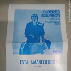 Catálogos de Música: CIFRADO GUITARRA ALBERTO BOURBON RCA. Lote 261357695