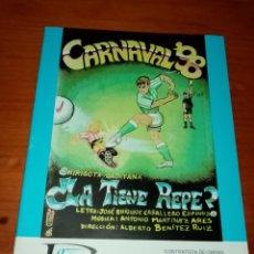 Catálogos de Música: LIBRETO DE CARNAVAL 98. LA TIENE REPE. C16L. Lote 261362270