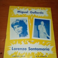 Catálogos de Música: CANCIONERO. MIGUEL GALLARDO. LORENZO SANTAMARIA. PEQUEÑAS COSAS. SI TU FUERA MI MUJER... C16L. Lote 261406575