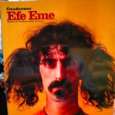 Cataloghi di Musica: CUADERNOS EFE EME. FRANK ZAPPA.( EL DESCONOCIDO). EFE EME. Lote 294503413