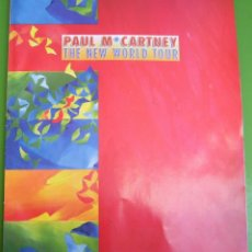 Catálogos de Música: PAUL MCCARTNEY (THE BEATLES) - THE NEW WORLD TOUR (96 PÁGINAS) EN INGLÉS. Lote 261850860