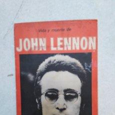Catálogos de Música: VIDA Y MUERTE DE JOHN LENNON, PÓSTER PARA EL RECUERDO, PUBLICACIÓN MUY RARA. Lote 261861440