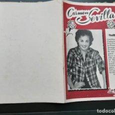 Catálogos de Música: CANCIONERO CARMEN SEVILLA , EDITORIAL ALAS. Lote 262098595