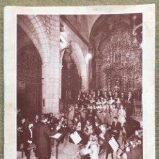 Catálogos de Música: CATÁLOGO DE EUROPA ORQUESTA Y CORO DE CÁMARA - SANTANDER - MÚSICA - CANTABRIA. Lote 262128350