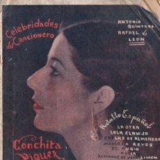 Catálogos de Música: CANCIONERO CELEBRIDADES CONCHITA PIQUER. Lote 263903750