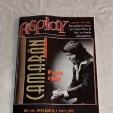 Catálogos de Música: ANTIGUO CATÁLOGO FISPLAY, NÚM. 9. DICIEMBRE'99. CAMARÓN - PARÍS 1987.. Lote 265679384